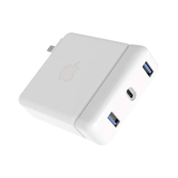HyperDrive USB-C Hub, Apple 87W Netzteil, Weiß
