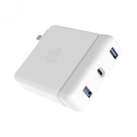 Drive USB-C Hub, Apple 61 W Netzteil, Weiß