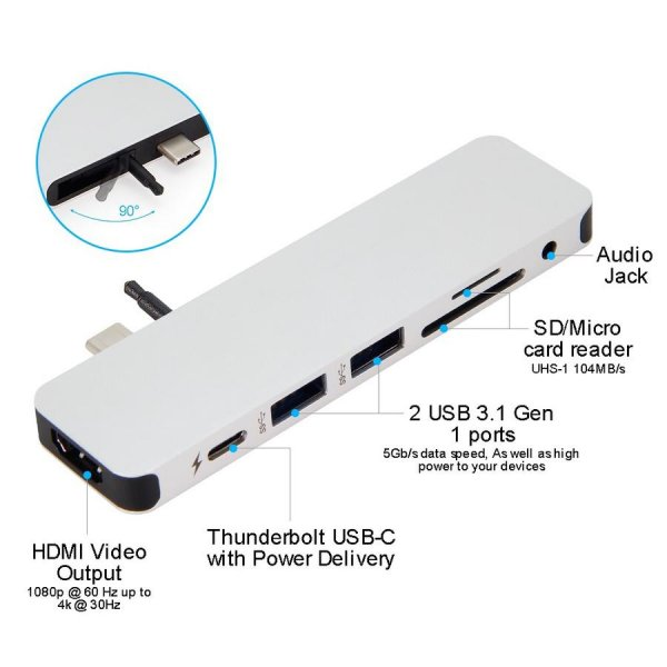 HyperDrive SOLO Hub 7-in-1, Apple MacBook & USB-C Notebooks