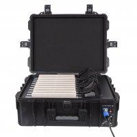 GROBI iPadkoffer, Transportkoffer mit Rollen für 10 iPads, Tablets oder Surfaces, mit Ladefunktion