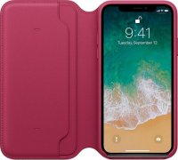 Apple iPhone Leder Folio Beere