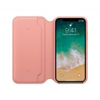 Apple iPhone X Leder Folio